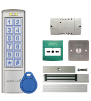 ESP 12v Single Door Proximity & Keypad Kit C/w Power Supply, Maglock, Exit Button & Emergency Door Release