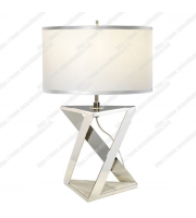 Elstead Ainsley 1 Light Polished Nickel And White Marble Base