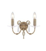 Elstead Aegean 2 Light Wall Light (Aged Brass)