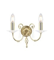 Elstead Aegean 2 Light Wall Light (Polished Brass)
