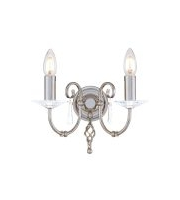 Elstead Aegean 2 Light Wall Light (Polished Nickel)