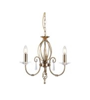 Elstead Aegean 3 Light Chandelier (Aged Brass)