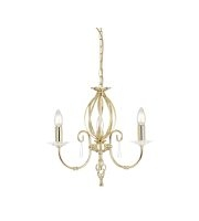 Elstead Aegean 3 Light Chandelier (Polished Brass)