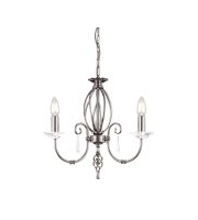 Elstead Aegean 3 Light Chandelier (Polished Nickel)