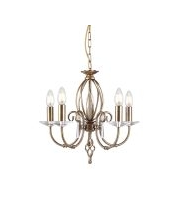 Elstead Aegean 5 Light Chandelier (Aged Brass)