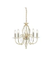 Elstead Aegean 5 Light Chandelier (Polished Brass)