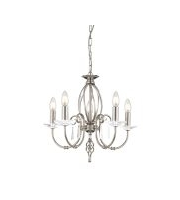 Elstead Aegean 5 Light Chandelier (Polished Nickel)