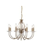 Elstead Aegean 8 Light Chandelier (Aged Brass)