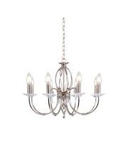 Elstead Aegean 8 Light Chandelier (Polished Nickel)
