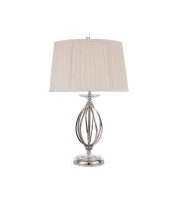Elstead Aegean 1 Light Table Lamp (Polished Nickel)