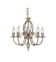 Elstead Artisan 5 Light Chandelier (Aged Brass)