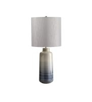 Bacari 1 Light Large Table Lamp (Blue/Grey)