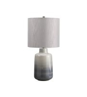 Elstead Bacari 1 Light Small Table Lamp (Blue/Grey)