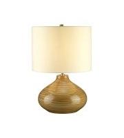 Elstead Bailey 1 Light Table Lamp (Wood Effect)