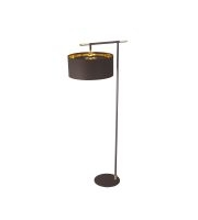 Elstead Balance 1 Light Floor Lamp (Brown and Polished Brass)