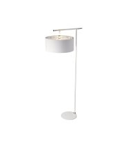 Elstead Balance 1 Light Floor Lamp (White and Polished Nickel)