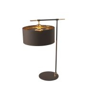 Elstead Balance 1 Light Table Lamp (Brown and Polished Brass)