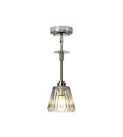 Elstead Agatha 1 Light Pendant (Brushed Nickel)