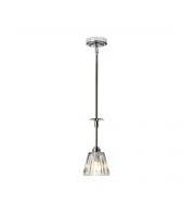 Elstead Agatha 1 Light Pendant (Polished Chrome)