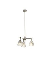 Elstead Agatha 3 Light Pendant (Brushed Nickel)