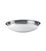 Elstead Brompton 1 Light Flush Mount (Polished Chrome)