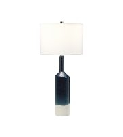Elstead Bayswater 1 Light Table Lamp (Blue and White)