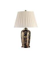 Elstead Black Birds 1 Light Table Lamp (Black and Gold)