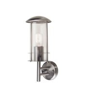 Elstead Bruges St Steel 1 Light Wall Lantern (Stainless Steel)