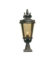 Elstead Baltimore 1 Light Large Pedestal Lantern (Weathered Bronze)