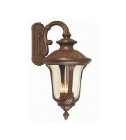 Elstead Chicago 4 Light Large Down Wall Lantern (Rusty Bronze Patina)