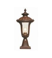 Elstead Chicago 1 Light Small Pedestal Lantern (Rusty Bronze Patina)