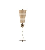 Elstead Anemone 1 Light Table Lamp (Creme and Tan)