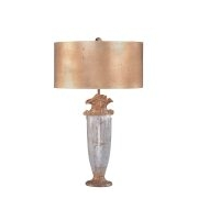 Elstead Bienville 1 Light Table Lamp (Silver/Gold)