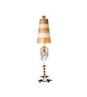 Elstead Birdland 1 Light Table Lamp (Black/White/Crystals)