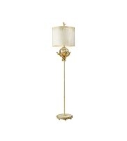 Elstead Trellis 1 Light Floor Lamp (Putty Patina/Silver Leaf)