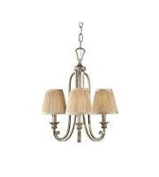 Elstead Abbey 3 Light Chandelier (Silver Sand)