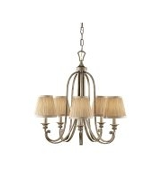 Elstead Abbey 5 Light Chandelier (Silver Sand)
