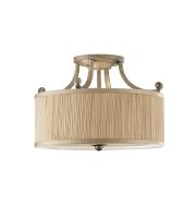 Elstead Abbey 3 Light Semi-Flush Light (Silver Sand)