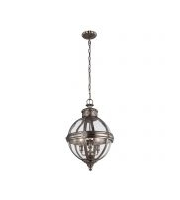 Elstead Adams 3 Light Pendant Chandelier (Antique Nickel)