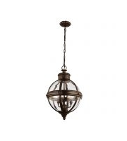 Elstead Adams 3 Light Pendant Chandelier (British Bronze)