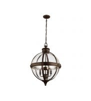 Elstead Adams 4 Light Pendant Chandelier (British Bronze)