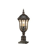 Elstead Baton Rouge 3 Light Pedestal Lantern (Walnut)