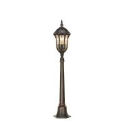 Elstead Baton Rouge 3 Light Bollard (Walnut)