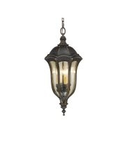 Elstead Baton Rouge 4 Light Chain Lantern (Walnut)