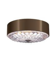 Elstead Botanic 3 Light Medium Flush Mount (Dark Aged Brass)
