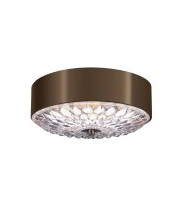 Elstead Botanic 3 Light Small Flush Mount (Dark Aged Brass)