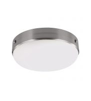 Elstead Cadence 2 Light Flush Mount (Brushed Steel)