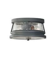 Elstead Chelsea Harbor 2 Light Flush Lantern (Storm Cloud)