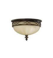 Elstead Drawing Room 3 Light Flush (Walnut)