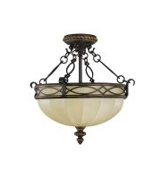 Elstead Drawing Room 2 Light Flush (Walnut)